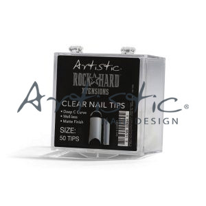 Artistic-Clear-nail-tips-rock-hard-extensions